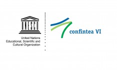 Conference logo of CONFINTEA VI