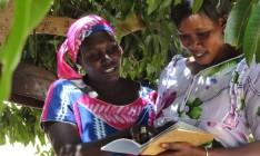 Women learning in Senegal