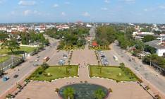 La ville de Vientiane vue du haut du Patouxai